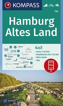Hamburg, Altes Land, KOMPASS-Wanderkarten